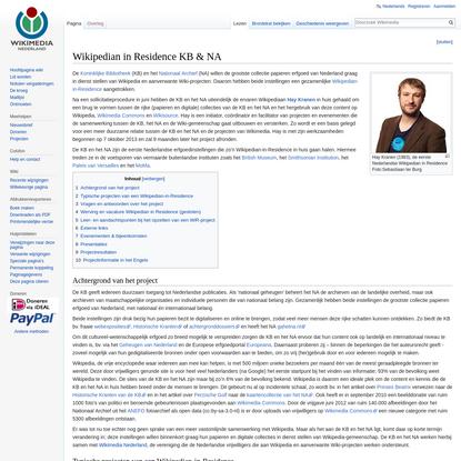 Wikipedian in Residence KB & NA - Wikimedia