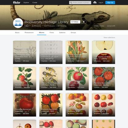 Biodiversity Heritage Library's albums   Flickr