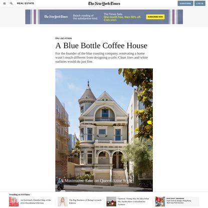 A Blue Bottle Coffee House
