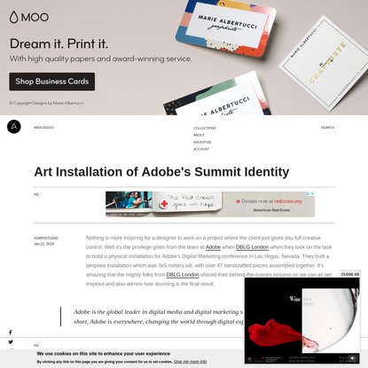 Art Installation of Adobe's Summit Identity