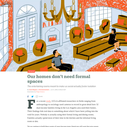 Our homes don't need formal spaces