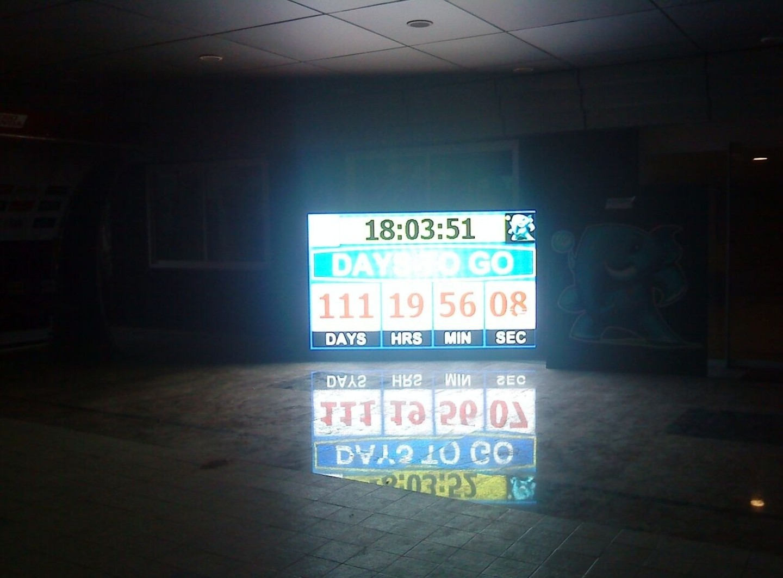 Mumbai cricket world cup display clock