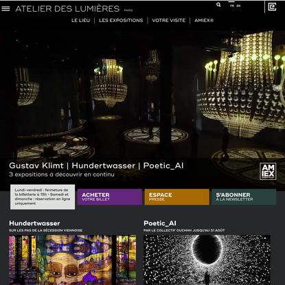 L'Atelier des Lumières - Site officiel - Créé par Culturespaces