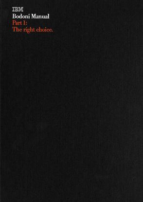 IBM Bodoni Manual