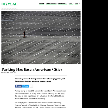 Parking Has Eaten American Cities