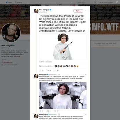 Rex Sorgatz on Twitter