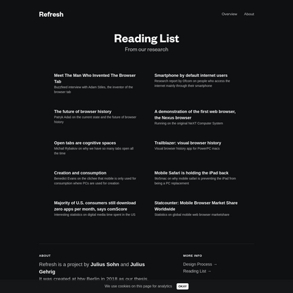 Refresh - A fresh approach to the web browser