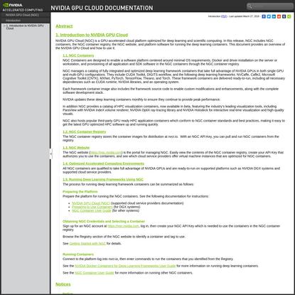 Introduction :: NVIDIA GPU Cloud Documentation