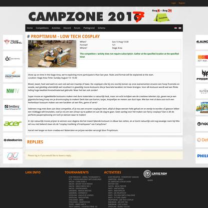 Proptimum - Low Tech Cosplay - CampZone 2017