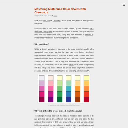 Mastering Multi-hued Color Scales with Chroma.js