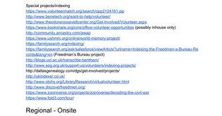 Volunteer metadata work