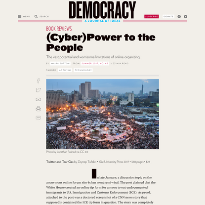 (Cyber)Power to the People