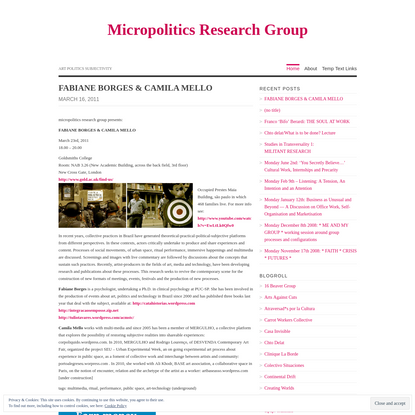 Micropolitics Research Group