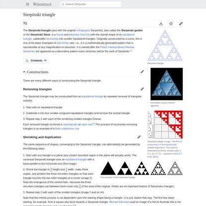 Sierpinski triangle - Wikipedia
