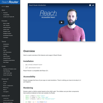 Reach Router - Overview