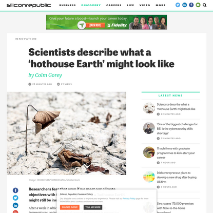 Scientists describe what a 'hothouse Earth' might look like