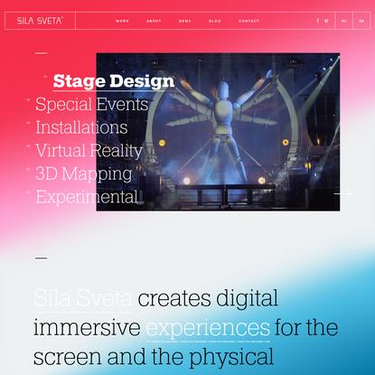 Sila Sveta - VR & 3D Mapping Dynamic Performance Stage Design