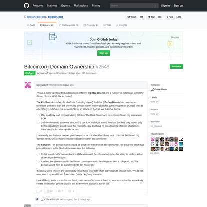 Bitcoin.org Domain Ownership · Issue #2548 · bitcoin-dot-org/bitcoin.org