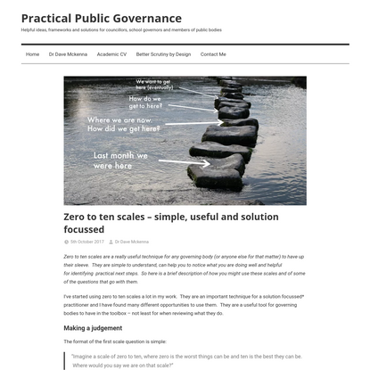 Zero to ten scales - simple, useful and solution focussed - Practical Public Governance