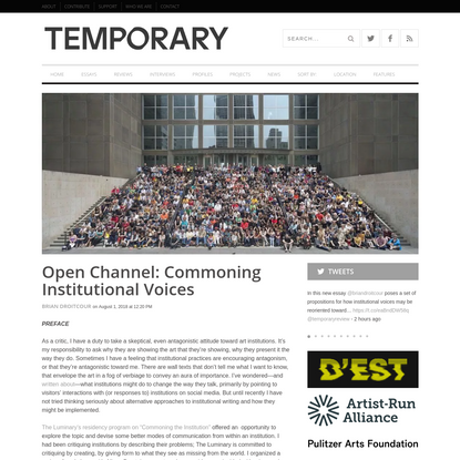 Open Channel: Commoning Institutional Voices