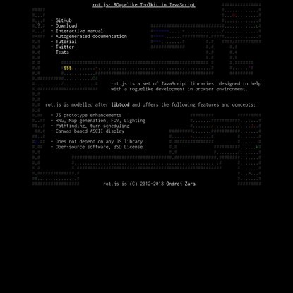 Rot.JS Homepage