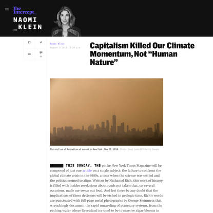 """Capitalism Killed Our Climate Momentum, Not """"Human Nature"""""""