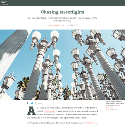 Los Angeles isn't known for its streetlights. It should be