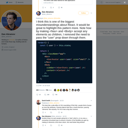 Dan Abramov on Twitter