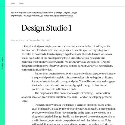 John Caserta Design Studio 1