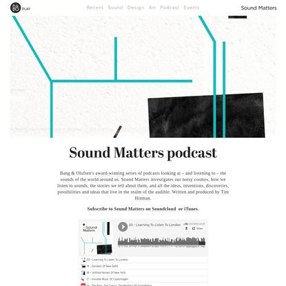 Sound Matters podcast