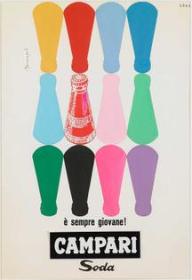 Franz Marangolo Campari Soda è sempre giovane!, 1960s Campari Soda is always Young! Mixed media 10. Franz Marangolo Bitter Campari, 1960s Mixed Media. Courtesy: Archivio Galleria Campari, Milan