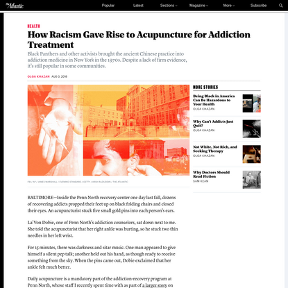 How Racism Gave Rise to Acupuncture for Addiction Treatment