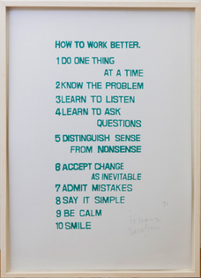 Peter Fischli and David Weiss  How to Work Better, 1991