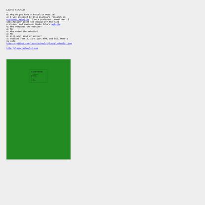 Brutalist Websites - Laurel Schwulst