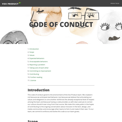 Vox Product Code of Conduct