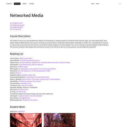 Networked Media - lauren mccarthy