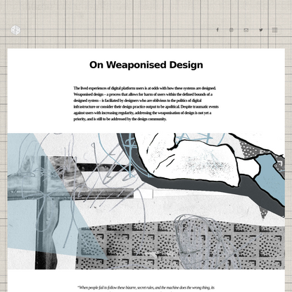 On Weaponised Design