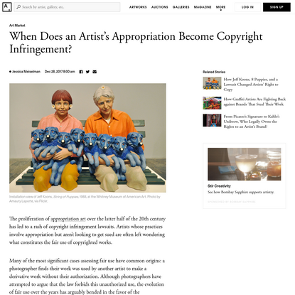 When Does an Artist's Appropriation Become Theft?