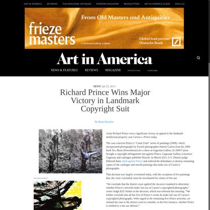 Richard Prince Wins Major Victory in Landmark Copyright Suit - Art in America