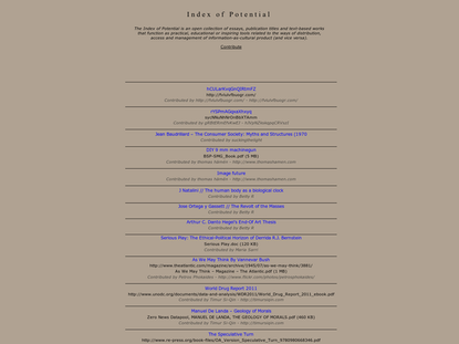 Index of Potential