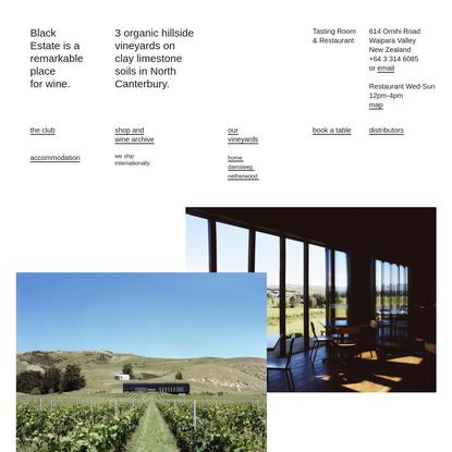Black Estate Wine, Waipara