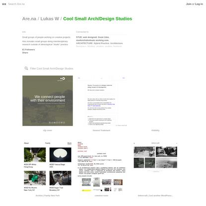 Are.na / Cool Small Arch/Design Studios