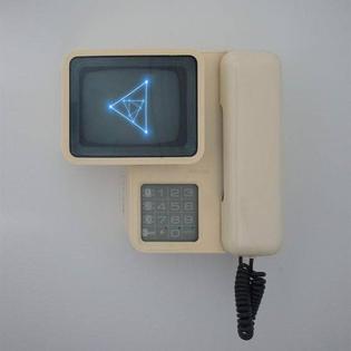 vector desktop phone