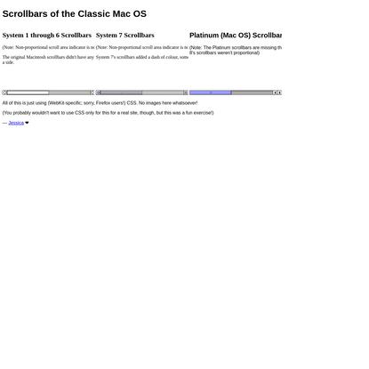 Scrollbars of the Classic Mac OS