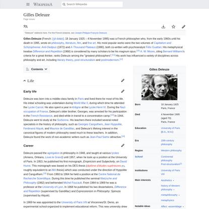 Gilles Deleuze - Wikipedia