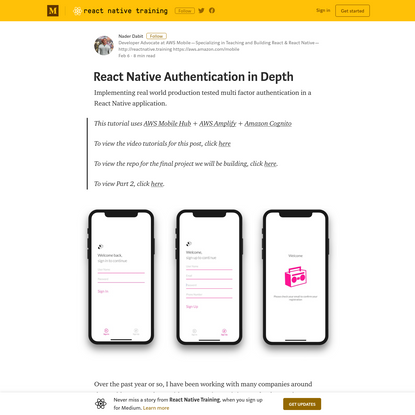 React Native Authentication in Depth - React Native Training - Medium