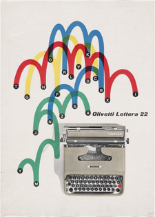 Olivetti Lettera 22 Poster, Giovanni Pintori, 1953