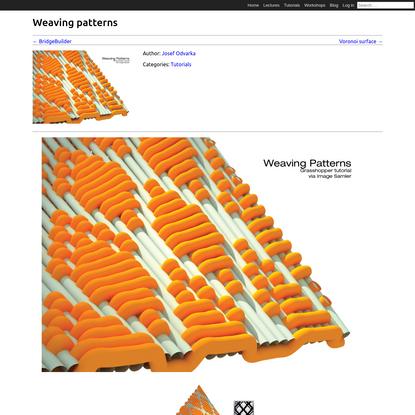 Weaving patterns | CAD - Scripting