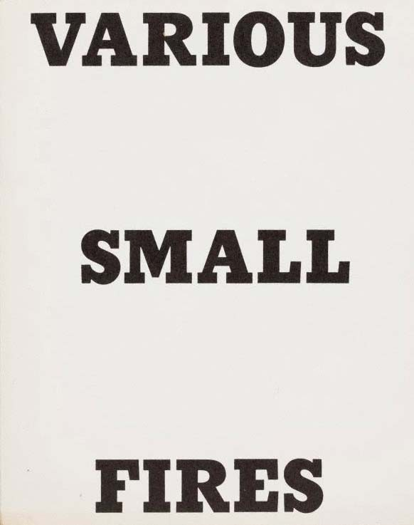 Ed Ruscha – Various Small Fires and Milk (A)