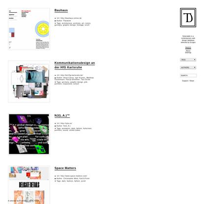 Delectable - Contemporary web design database